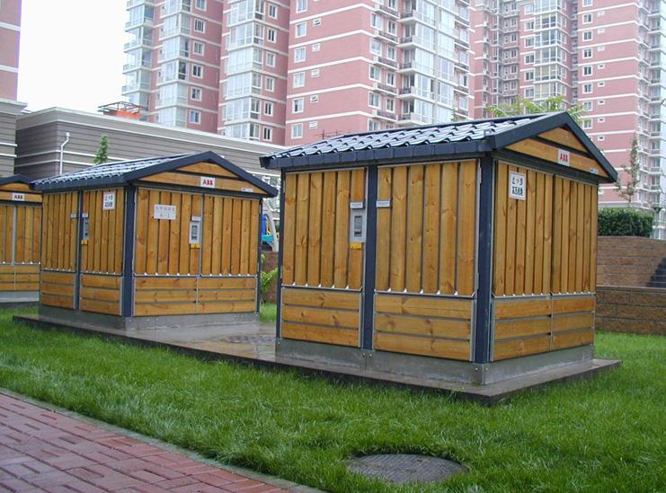 abb木条型箱式变电站-亚明配电箱柜图片