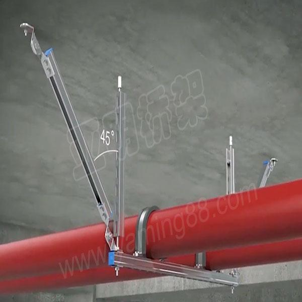 多管侧向抗震支吊架-亚明抗震支架